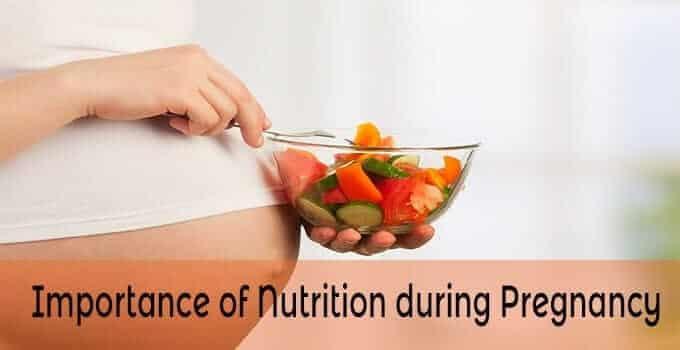 importance of nutrition pregnancy diet