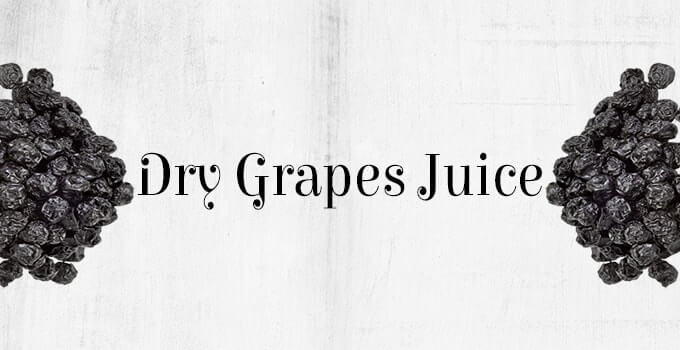 Dry grapes juice for babies